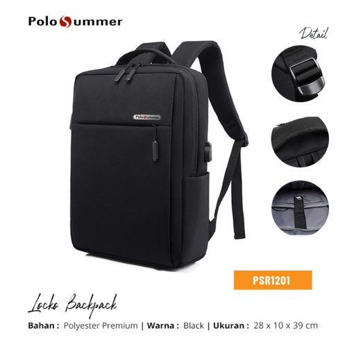 Polo Backpack Locko Black