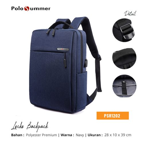 Polo Backpack Locko Navy
