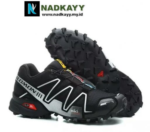 SALOMON SPEEDCROSS 3 - HITAM LIST PUTIH